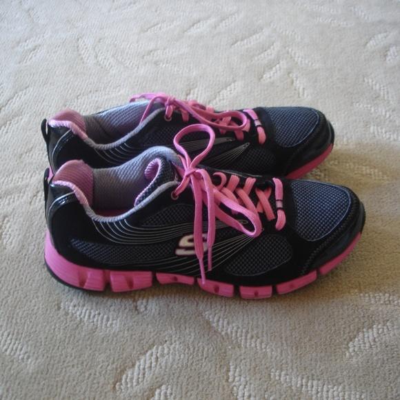Womens Skechers Sneakers SN11635 Sz 10 PinkBlack
